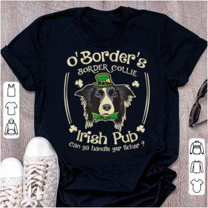 Great Funny Irish Pub Border Collie Mother Mom Women Dad Dog shirt