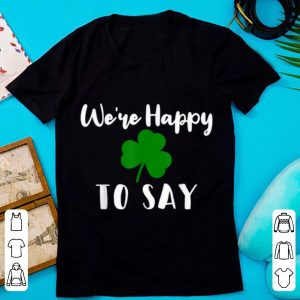 Great Matching Couple Pregnancy Announcement St Patricks Day shirt