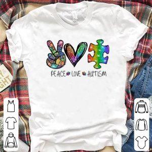 Great Peace Love Autism Awareness shirt