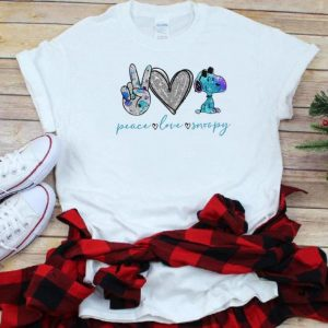 Great Peace Love Snoopy shirt
