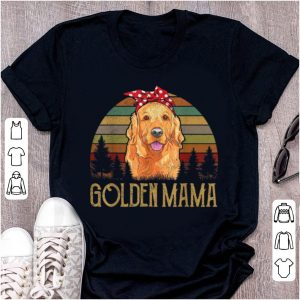 Great Red Golden-retriever Mama Mom Vintage Funny Mother Gifts Tee shirt