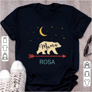 Great Rosa Name Gift Personalized Retro Mama Bear shirt