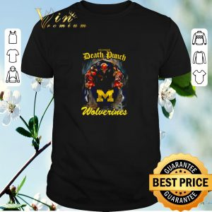 Hot Five Finger Death Punch holding Michigan Wolverines flag shirt sweater