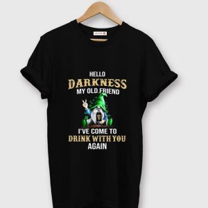 Hot Gnomie hug Guinness hello darkness my old friend I've come to drink with you shirt