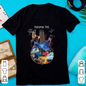 Hot Guitar Porcupine Tree Signatures shirt