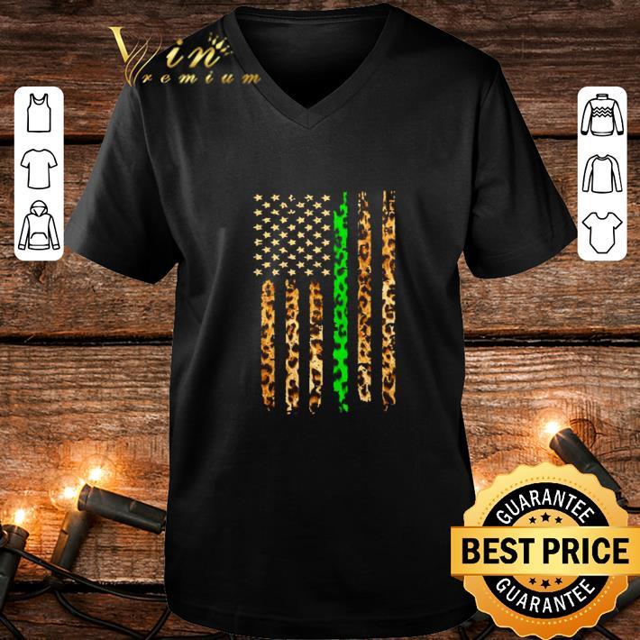 Hot Thin Green Line Leopard American Flag shirt 4 - Hot Thin Green Line Leopard American Flag shirt