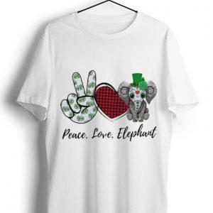Nice Peace Love Lucky Elephant Shamrock shirt