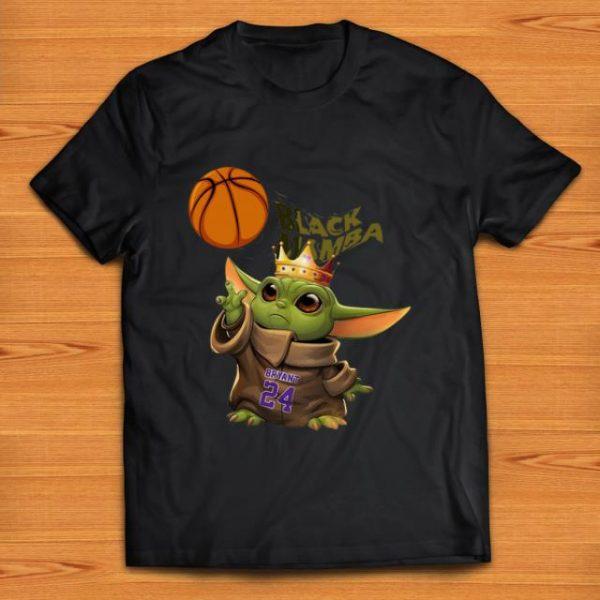 Nice Star Wars Baby Yoda Black Mamba Kobe Bryant shirt