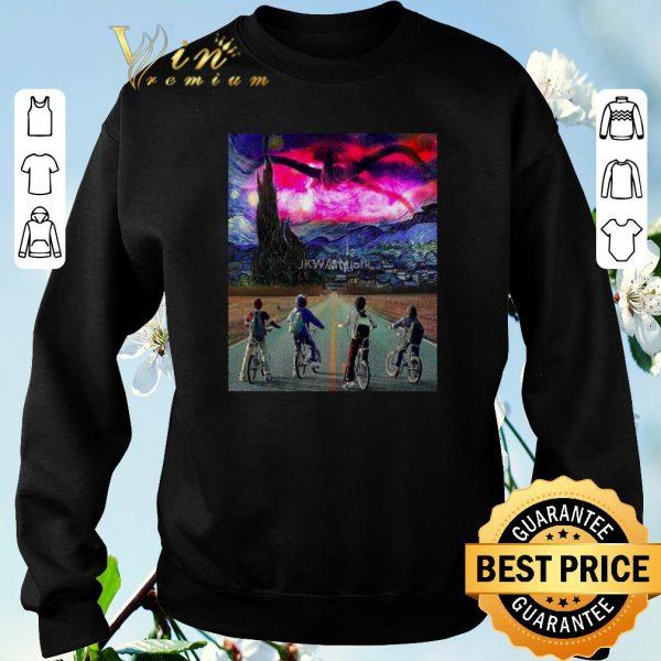 Nice Van Gogh Mashup Stranger Things on a Starry Night shirt sweater