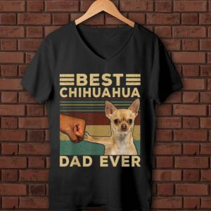 Official Best Chihuahua Dad Ever Father's Day Vintage Dog Lovers shirt