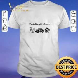 Official I'm a simple woman i like flip flop jeep and dog paw shirt sweater