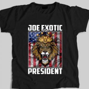 Official Joe Exotic For President Tiger King American Flag shirt