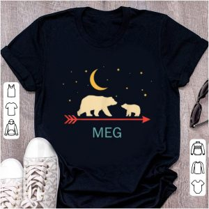 Official Meg Name Gift Personalized Mama Bear With 1 Cub shirt