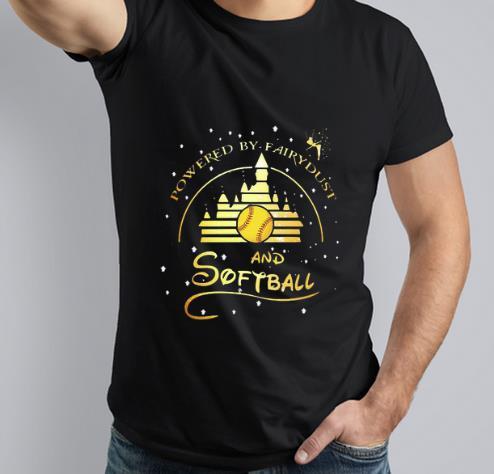 Original Disney Powered By fairydust And Softball shirt