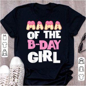 Original Mama Of The Bday Girl Donut Cute Birthday Princess Outfit shirt