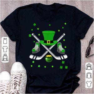 Premium Hockey Hat Leprechaun St Patricks Day Boys Men Catcher shirt
