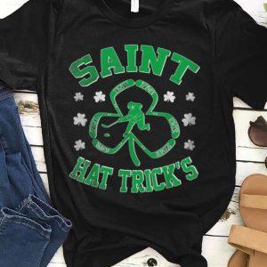 Premium Saint Hat Trick's Funny Ice Hockey St Patrick's Day Shamrock shirt