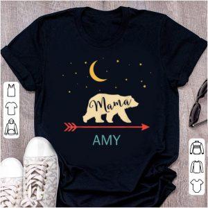 Pretty Amy Name Gift Personalized Retro Mama Bear shirt