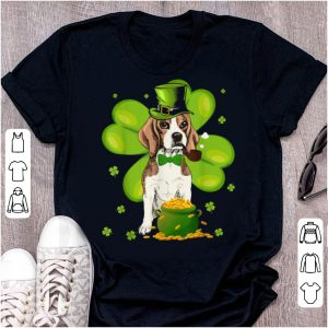 Pretty Funny Beagle St.patrick's Day Hat Tie Shamrock Gift shirt