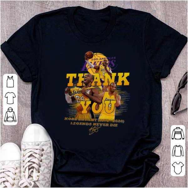 Pretty Los Angeles Lakers Thank You 24 Kobe Bryant (1978-2020) Signature Legends Never Die Signature shirt