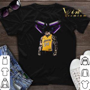 Son Goku mashup Kobe Bryant Logo Los Angeles Lakers 24 shirt