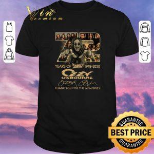 Top 72 years of Black Sabbath 1948-2020 Ozzy Osbourne signatures shirt sweater