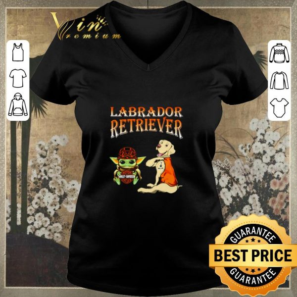 Top Baby Yoda Motor Harley Davidson Cycles Labrador Retriever shirt sweater