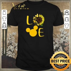Top Love Sunflower Mickey mouse shirt sweater