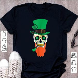 Top St. Patrick's Day Sugar Skull With Hat And Pipe 2018 shirt