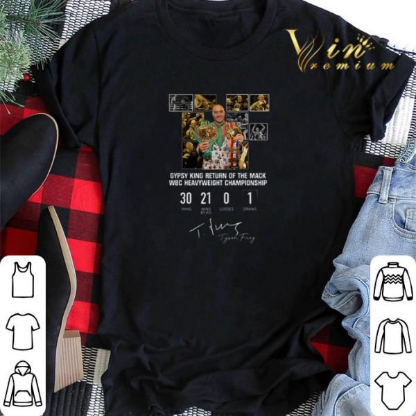 Tyson Fury Lineal Boxing Championship Signature shirt