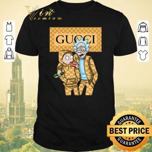 Pretty Rick and Morty wearing Gucci shirt sweater