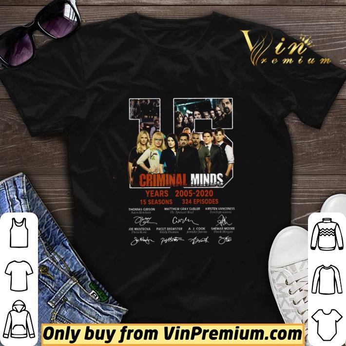 15 Years Criminal Minds 2005 2020 15 Seasons 324 Episodes Signature shirt sweater
