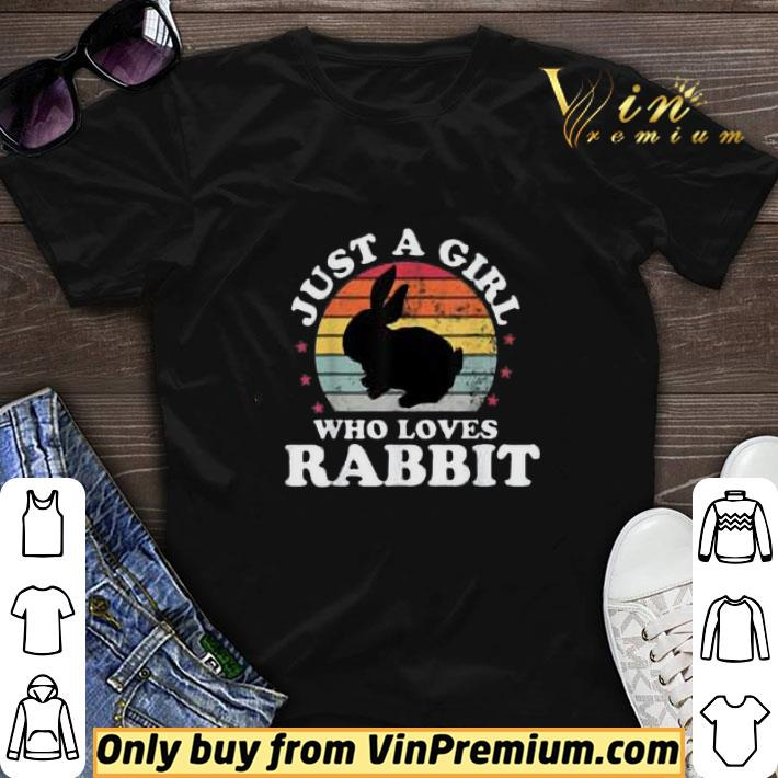 Just A Girl Who Loves Rabbit Vintage shirt sweater