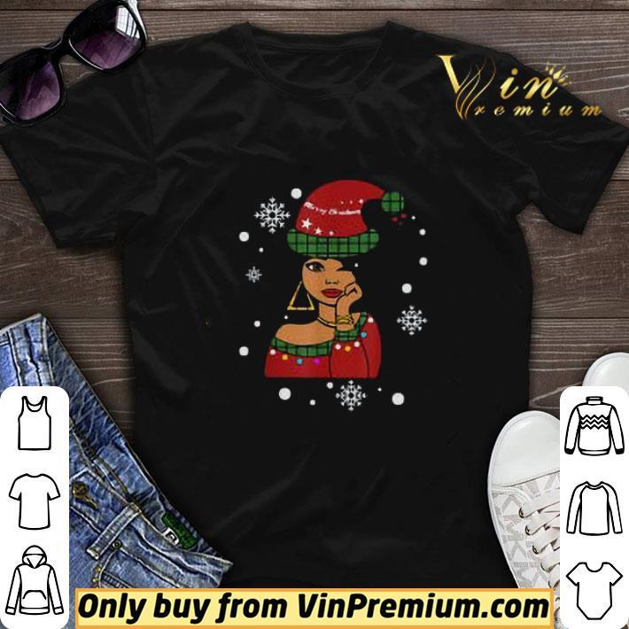 African American Christmas Santa Claus shirt sweater