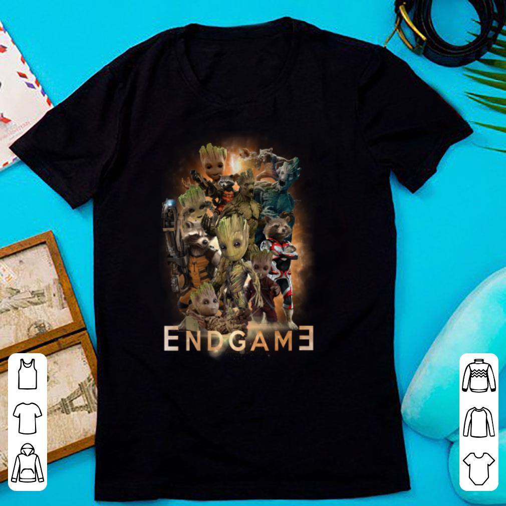 Groot And Rocket Raccoon Avengers Endgame Poster Shirt Hoodie
