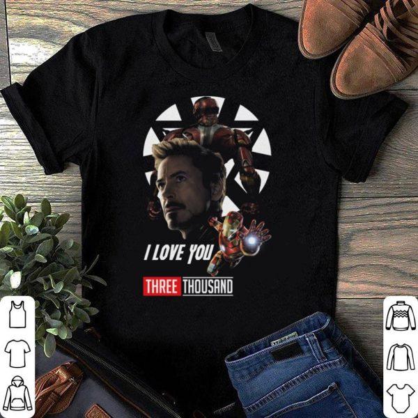 I Love You Three Thousand Times Iron Man Avengers Endgame shirt