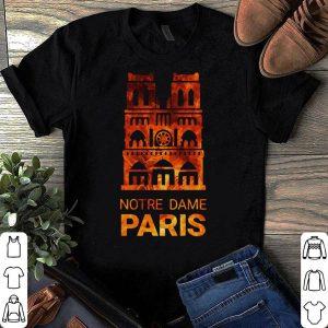 Notre dame de Paris Cathedral on fire shirt