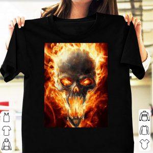 Skull flaming mask shirt