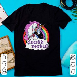 Unicorn Rainbow Death Metal shirt