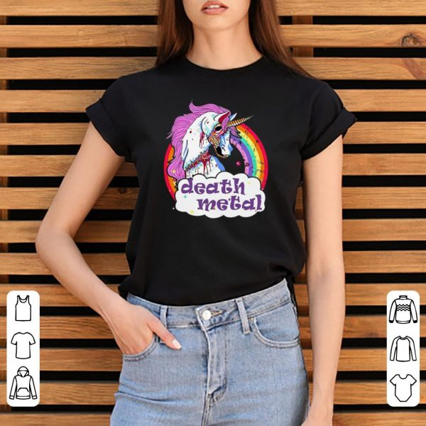Unicorn Rainbow Death Metal shirt
