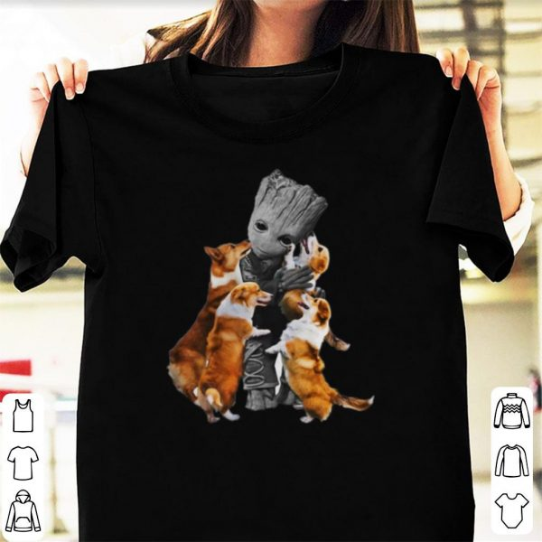 Baby Groot Hugs Welsh Corgi shirt