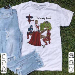 It's Heavy Huh Team Avengers EndGame And Jesus shirt