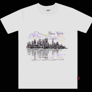 New York City Skyline NYC Sunset Graphic Souvenir shirt