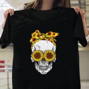 Skull sunflower shirt