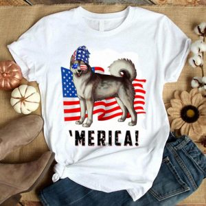 4th Of July Alaskan Malamute Dog Merica Tee Shirt