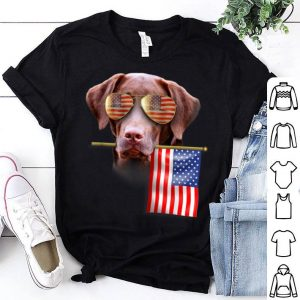 4th Of July Fun American Flag Labrador Dog Lover Gift Shirt