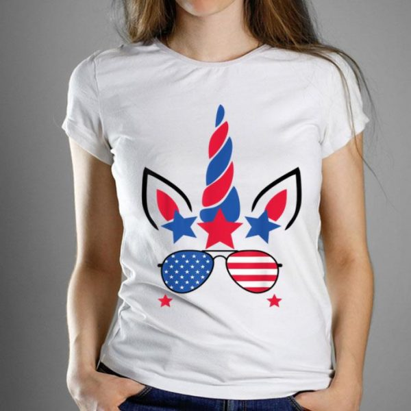 4th Of July Unicorn American Flag Patriotic Gift Shirt
