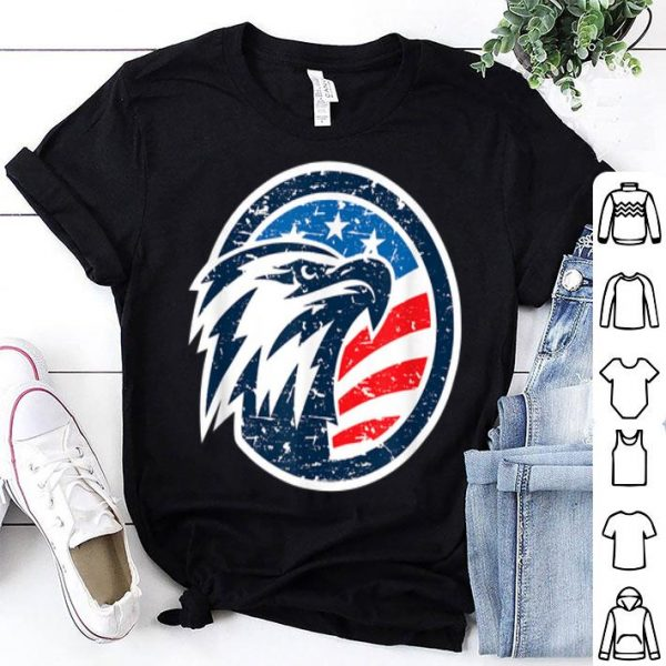 4th of July USA American Flag Vintage Patriotic Eagle shirt