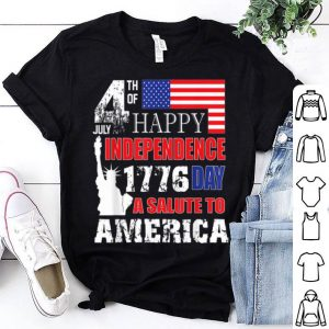 A Salute To America 4th Of July Independence Day Tee Shirt