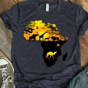 African Animal Jungle Safari Silhouette King Of Jungle Lions Shirt